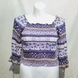 Limited Too   Lavender and purple Blouse